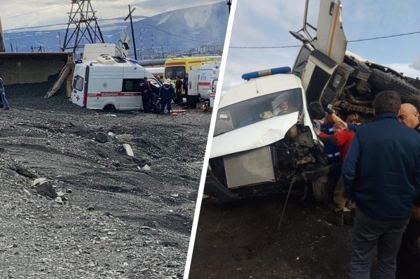"""Последствия аварии на <nobr class=""""_"""">5-м</nobr> километре дороги <nobr class=""""_"""">Норильск —</nobr> Талнах"""