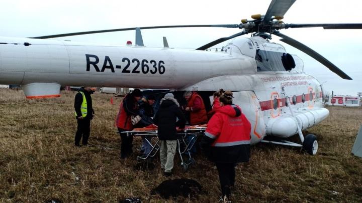 В Прикамье нашли нового подрядчика для вертолета санавиации
