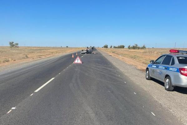 Авария произошла в Черноярском районе Астраханской области