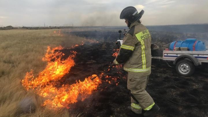 К людям не допустили: под Волгоградом пожарные ликвидировали крупный степной пожар