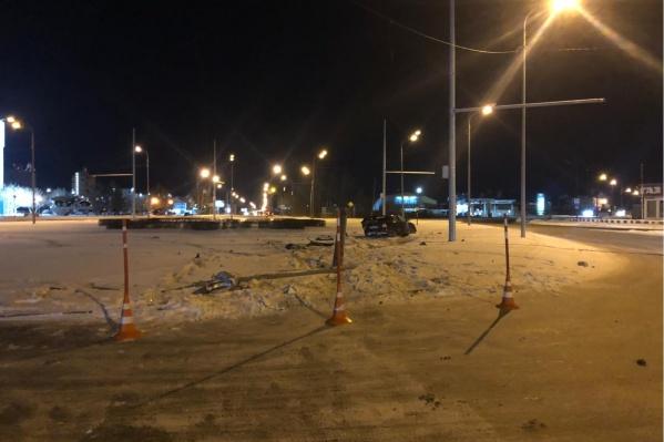 Снимок с места дорожно-транспортного происшествия