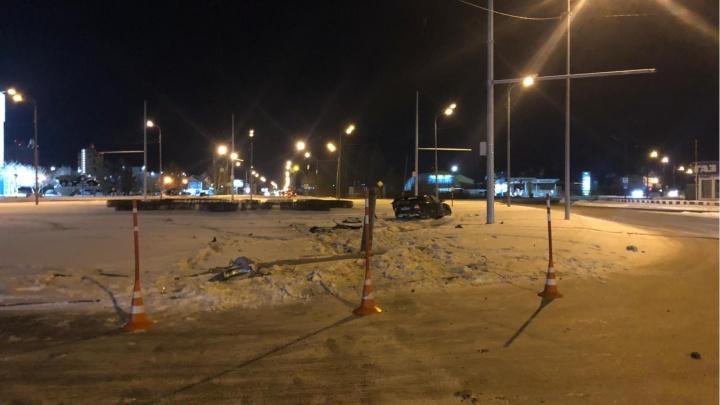 В больнице скончался тюменец, который попал в ДТП на угнанной машине