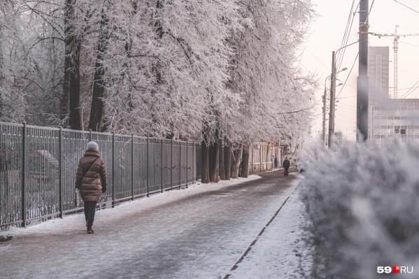 В Прикамье продолжается похолодание