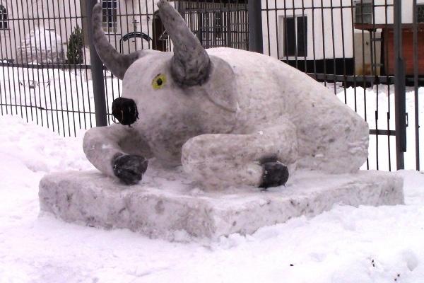 В Самарской области заключенные устроили конкурс ледовых скульптур