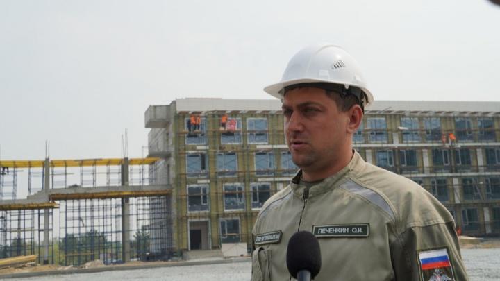 Новый кадетский корпус в Омске готов на 60%