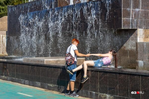 Освежиться можно будет у фонтанов