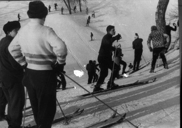 Лыжники-слаломисты. 1968 год<br>