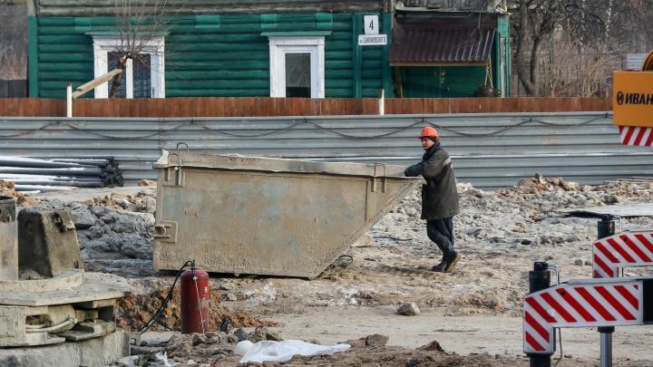 Улицу Циолковского в Нижнем Новгороде частично перекрыли