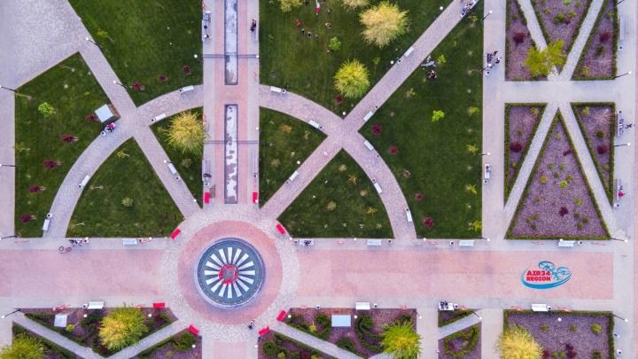 «Не поверите, но это Волгоград»: фотограф показал с высоты причудливую геометрию парков города