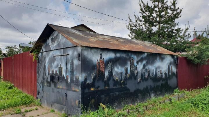 «А внутри Бэтжигуль»: пикабушники посмеялись над ярославским арт-гаражом
