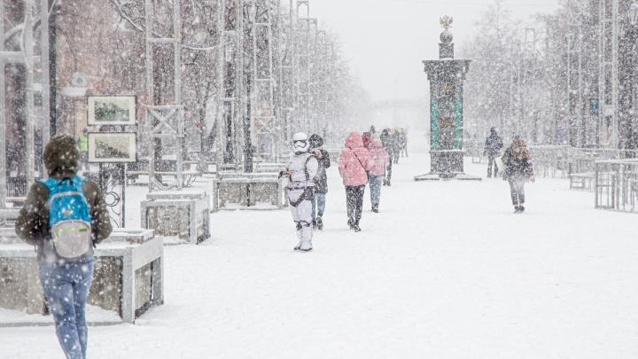 Челябинск завалило снегом. Когда осадки прекратятся?