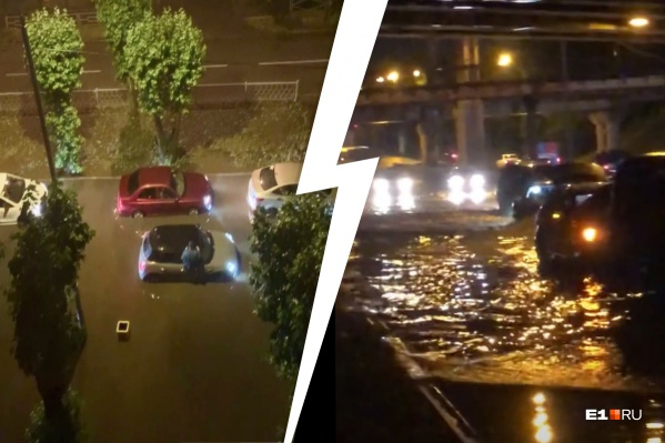Машины получают гидроудар и глохнут, а водителям приходится выталкивать их из воды