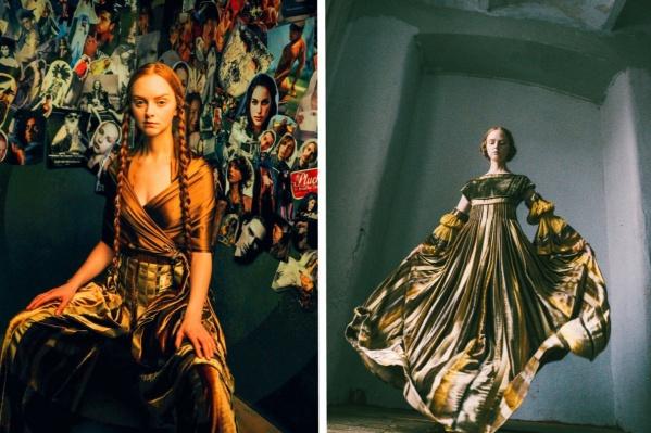 Модели в платьях Ткаченко кажутся мифическими и библейскими персонажами
