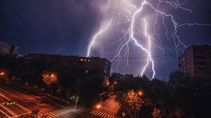 Местами будут сильные дожди и грозы. МЧС предупреждает о непогоде в Тюменской области