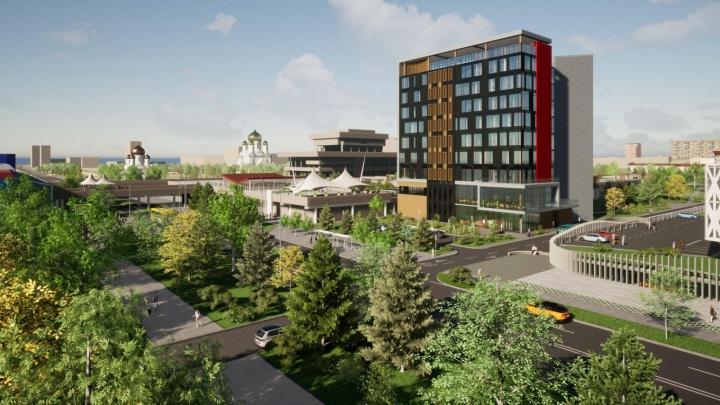 На пустыре около ДКиТ планируют строительство гостиницы: публикуем эскизы