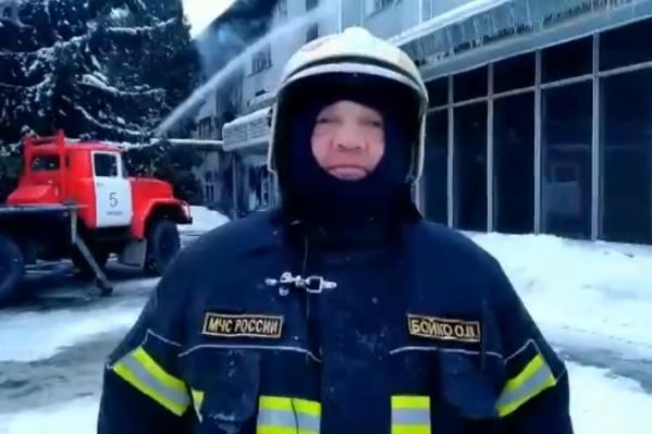 По словам руководителя областного МЧС Олега Бойко, в здании не было системы пожаротушения