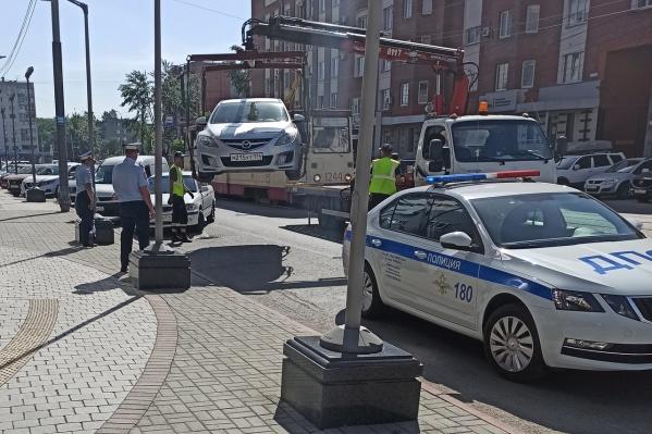 Эвакуация штрафных машин в Челябинске не сбавляет обороты