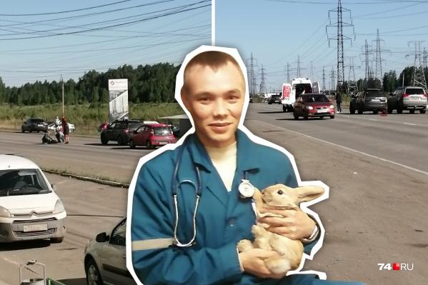 Илья Онянов попал под колеса Subaru на переходе в Парковом, когда шел на работу
