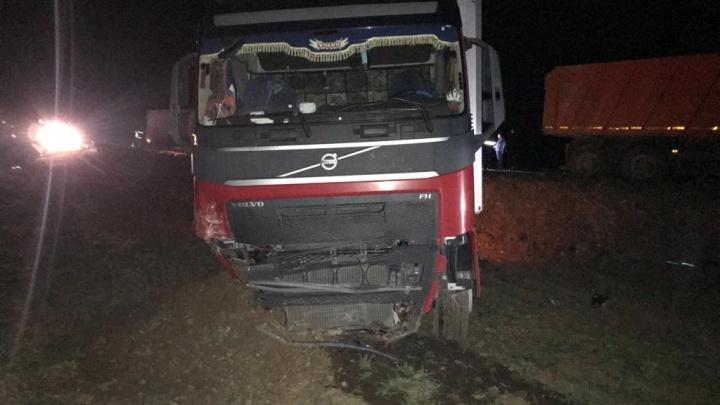 Под Волгоградом фура снесла на светофоре три машины. Пятеро раненых, в том числе двое детей