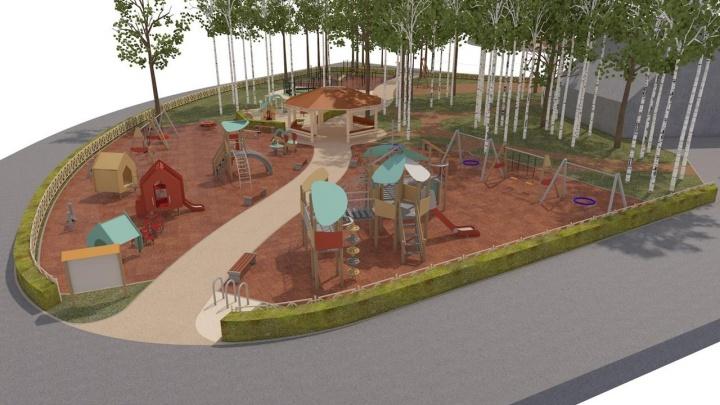 В парке Маяковского построят гигантскую детскую площадку. Показываем, какой она будет