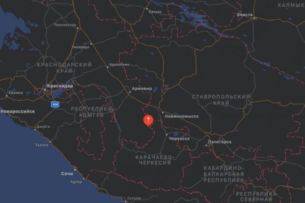 Толчки были практически на границе со Ставропольским краем