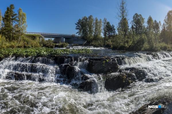Водопад Суенга находится в Маслянинском районе