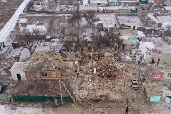 От дома, в котором взорвался газовый баллон, почти ничего не осталось