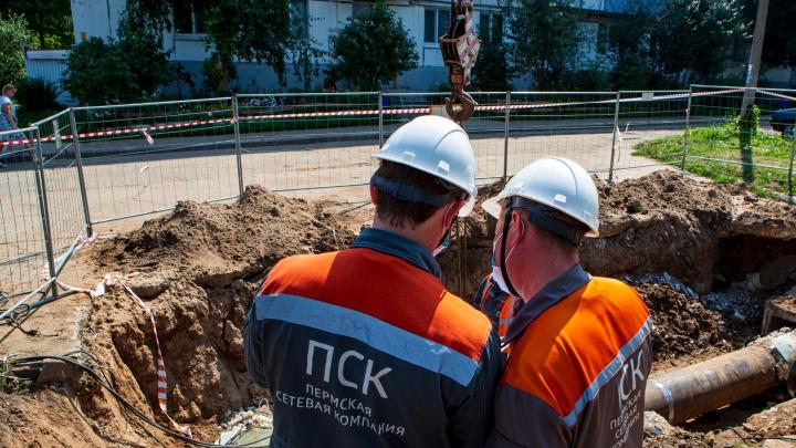 Да будет тепло: пермская сетевая компания устранила повреждение на бесхозном теплопроводе на Крупской
