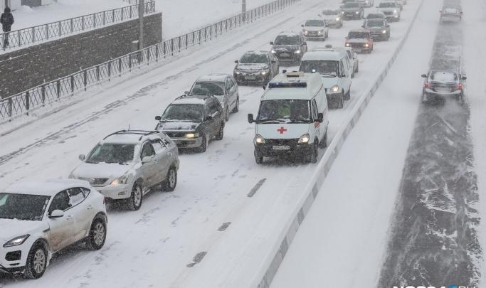ГИБДД оштрафовала власти Красноярска на миллионы рублей за плохую уборку дорог от снега