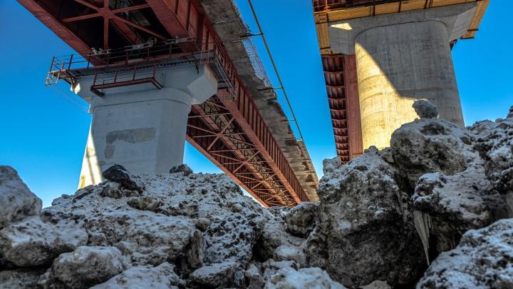 Готовность — 70%: публикуем фоторепортаж с нового моста через реку Сок