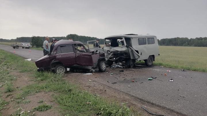 В Крутинском районе полный людей УАЗ столкнулся с «семеркой» — погибли трое