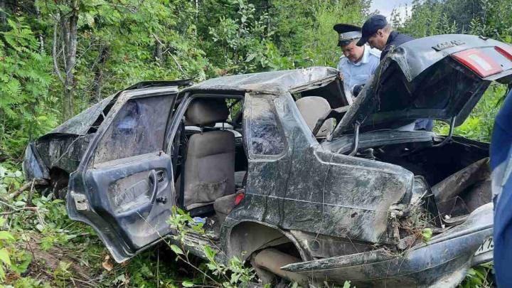 На трассе М-5 в Челябинской области водитель легковушки улетел в кювет и разбился насмерть