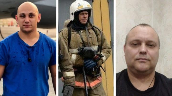 Тела трех пожарных, погибших при тушении склада в Красноярске, нашли