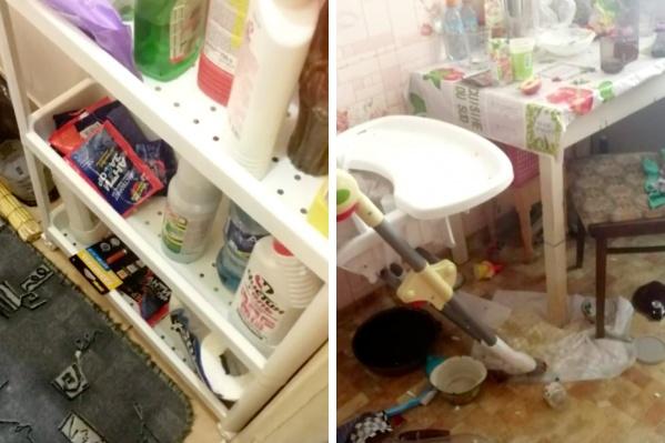 Мальчик нашел упаковку с чистящим средством в туалете
