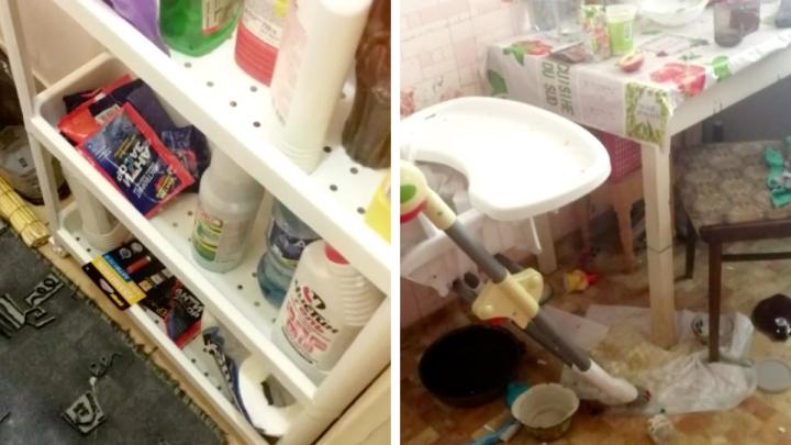 В Железногорске ребенок прокусил упаковку от чистящего средства и получил химический ожог