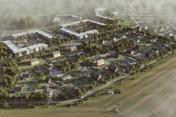 Новый район застраивают недалеко от действующего посёлка Исток. Таким будет первый этап строительства