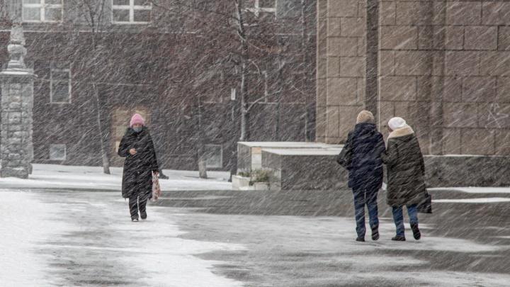 На Челябинскую область надвигаются снегопад и сильный ветер, ожидается гололед