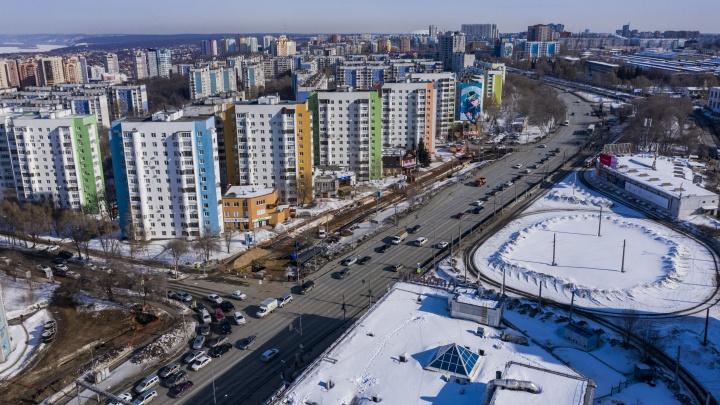 Появились очертания будущих дублеров на Ново-Садовой: фото с коптера