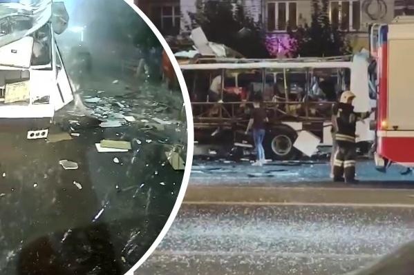 Обломки автобуса исследуют на следы взрывчатых веществ