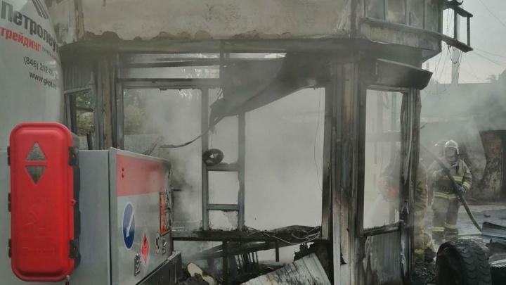 «Бомбануло!»: пожар на АГЗС в Самаре начался со взрыва