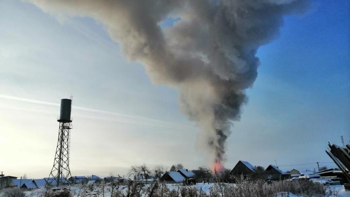 Дедушке обожгло руки: в Ярославской области дотла сгорел дом. Видео