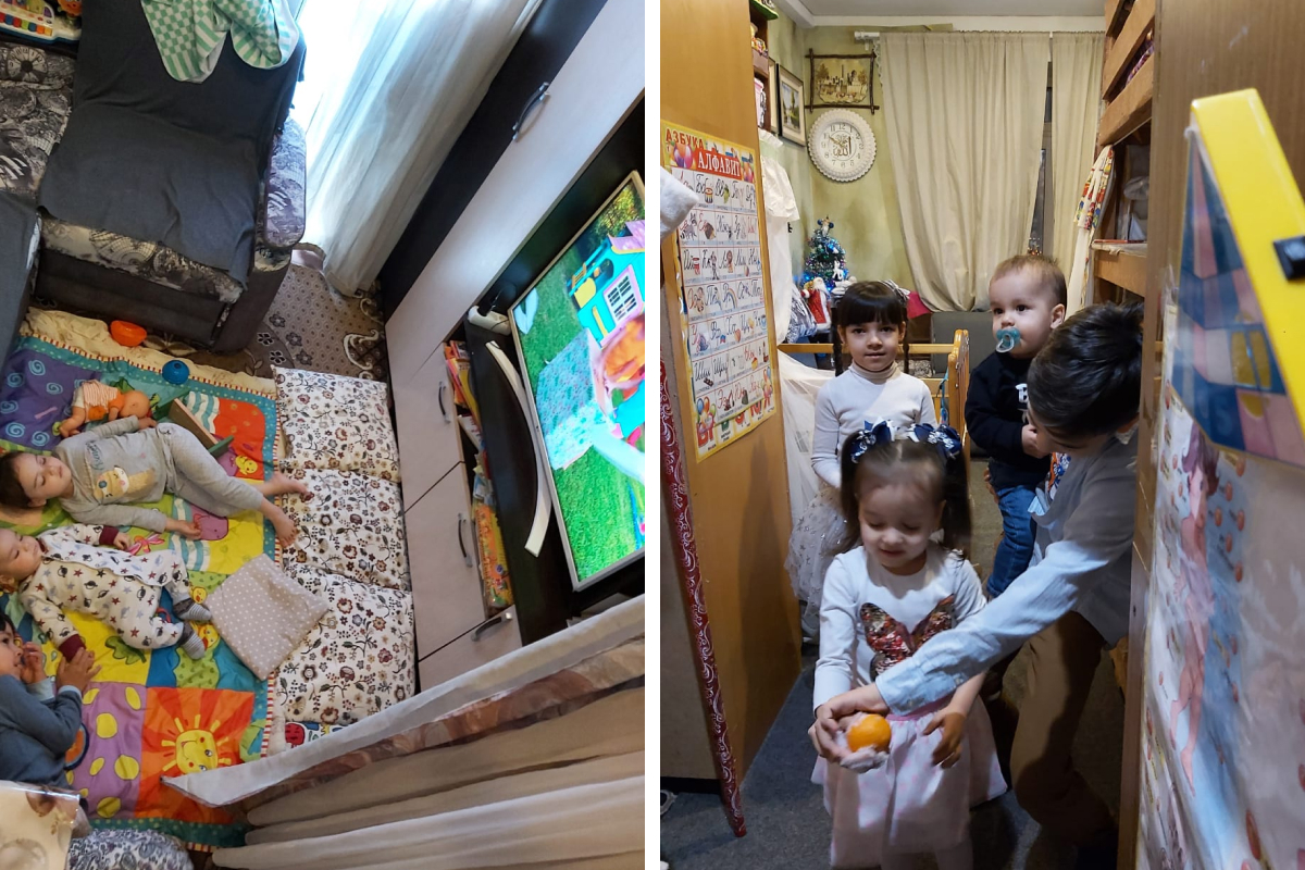 Места мало, но Даша уверена, что сможет заработать на жилплощадь побольше, как только младший сын пойдет в детский сад