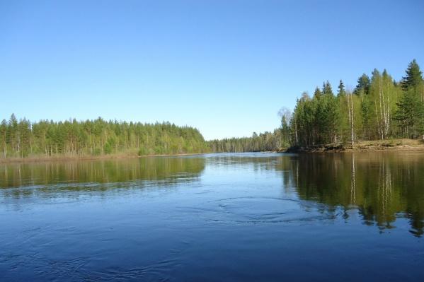 Место гибели мальчика — река Онега