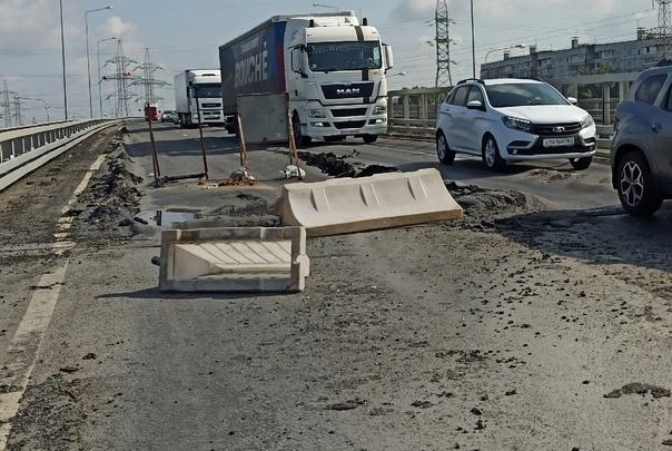 В Тольятти начали ремонтировать новый путепровод на трассе М-5