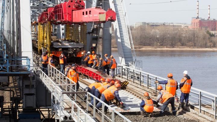 В Ярославле участок пути у железнодорожного моста отремонтируют затри дня