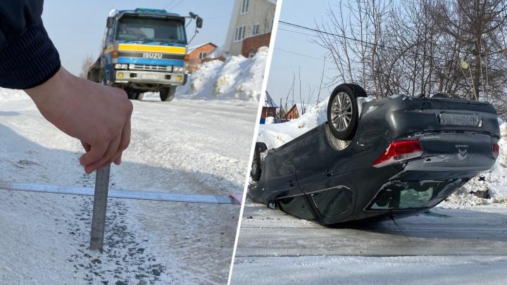 Колея — 10 сантиметров: водитель перевернувшейся на Коминтерна машины рассказал, как всё произошло