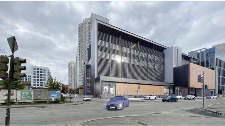 В Екатеринбурге откроют новый пятиэтажный торговый центр. Показываем, как он будет выглядеть