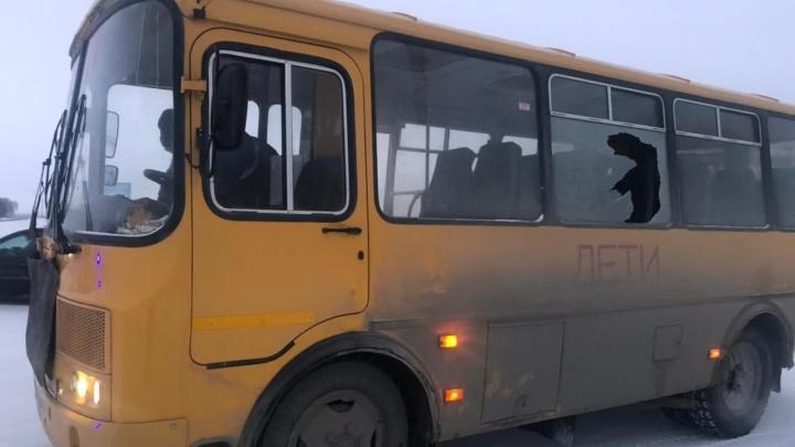 На трассе под Челябинском школьный автобус попал в ДТП. Он вез 13детей