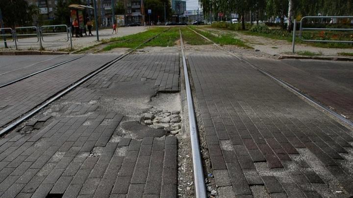 В центре Челябинска ограничат движение из-за ремонта трамвайного переезда