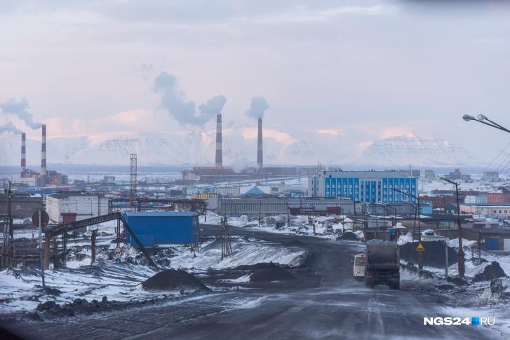 Норильск считается одним из самых грязных городов мира из-за выбросов с предприятий